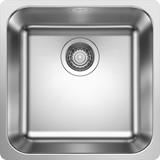 Spüle Blanco S-style 400-if - Edelstahlfarben, KONVENTIONELL, Metall (44/17,5/44cm) - BLANCO
