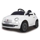 Kinderauto Ride-On Fiat 500 Weiß - Silberfarben/Schwarz, Basics, Kunststoff (112/65/50cm)