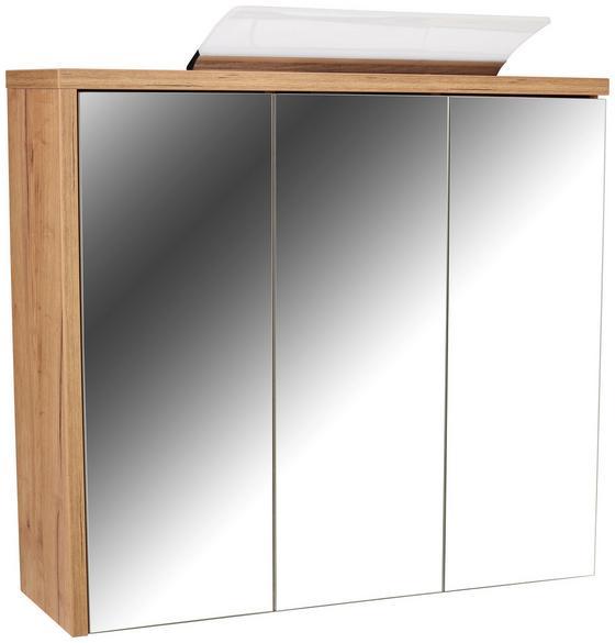 Spiegelschrank Opus Sps - Eichefarben, MODERN, Holzwerkstoff (90/71/18cm)