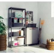 Kunststoffregal Plus B 75cm, Anthrazit - Anthrazit, KONVENTIONELL, Kunststoff (75/176/32cm) - Keter