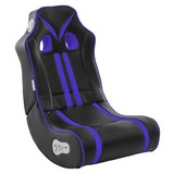 Gamingstuhl Ninja B: 56 cm Schwarz/blau - Blau/Schwarz, Design, Textil (56/100/82cm) - Carryhome