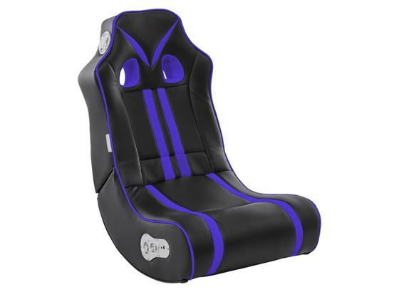 Gamingstuhl Ninja B: 56 cm Schwarz/Blau - Blau/Schwarz, Design, Textil (56/100/82cm) - Livetastic