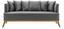 Pohovka Mina - šedá, Moderní, dřevo/textil (190/81/78cm) - Modern Living
