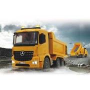 Fernlenkauto Muldenkipper Mercedes-Benz - Dunkelgrau/Gelb, Basics, Kunststoff (36,6/16,2/19,8cm)