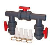 Bypass-Set D50 für Wärmepumpen - Grau, Basics, Kunststoff (31/31/31cm)