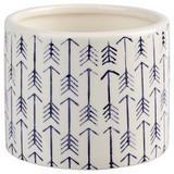 Übertopf Alesia - Blau/Weiß, Basics, Keramik (10,3/8cm) - Luca Bessoni