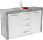Komoda Focus Fck02 - bílá, Moderní, kompozitní dřevo (149/86/45cm)