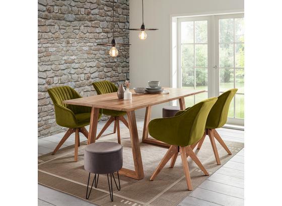 Jedálenský Stôl Laos - prírodné farby, Moderný, drevo (175/76/90cm) - Zandiara