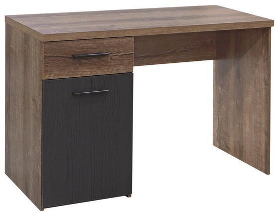 Psací Stůl Tokio -exklusiv- - barvy dubu/černá, Moderní, kov/dřevěný materiál (110/76,5/52,7cm)