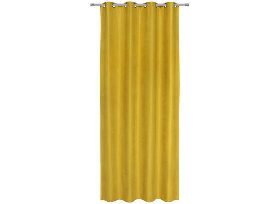 Záves S Krúžkami Nizza - žltá, Konvenčný, textil (140/245cm) - Mömax modern living