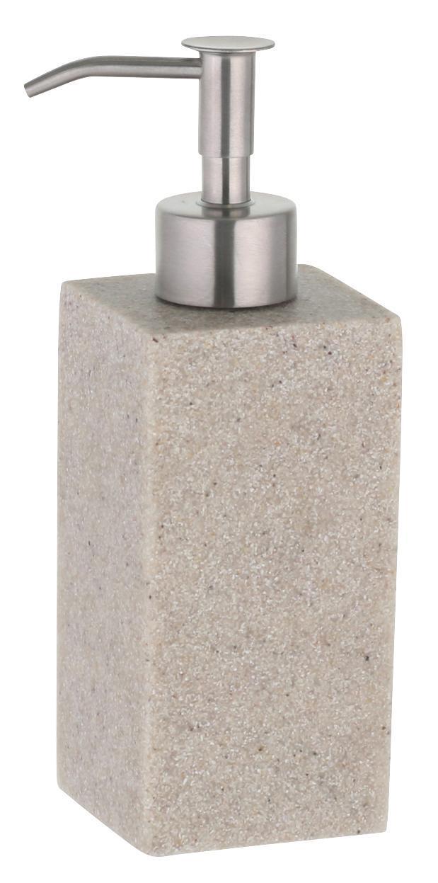 Seifenspender Flüssigseife Dolomit anthrazit Pumpe verchromt 370ml Pumpspender
