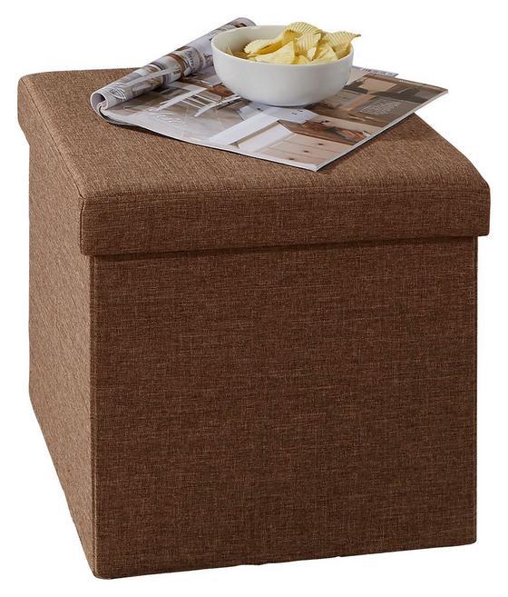 Sitzbox Classic Braun - Braun, MODERN, Holzwerkstoff/Textil (38/38/38cm)
