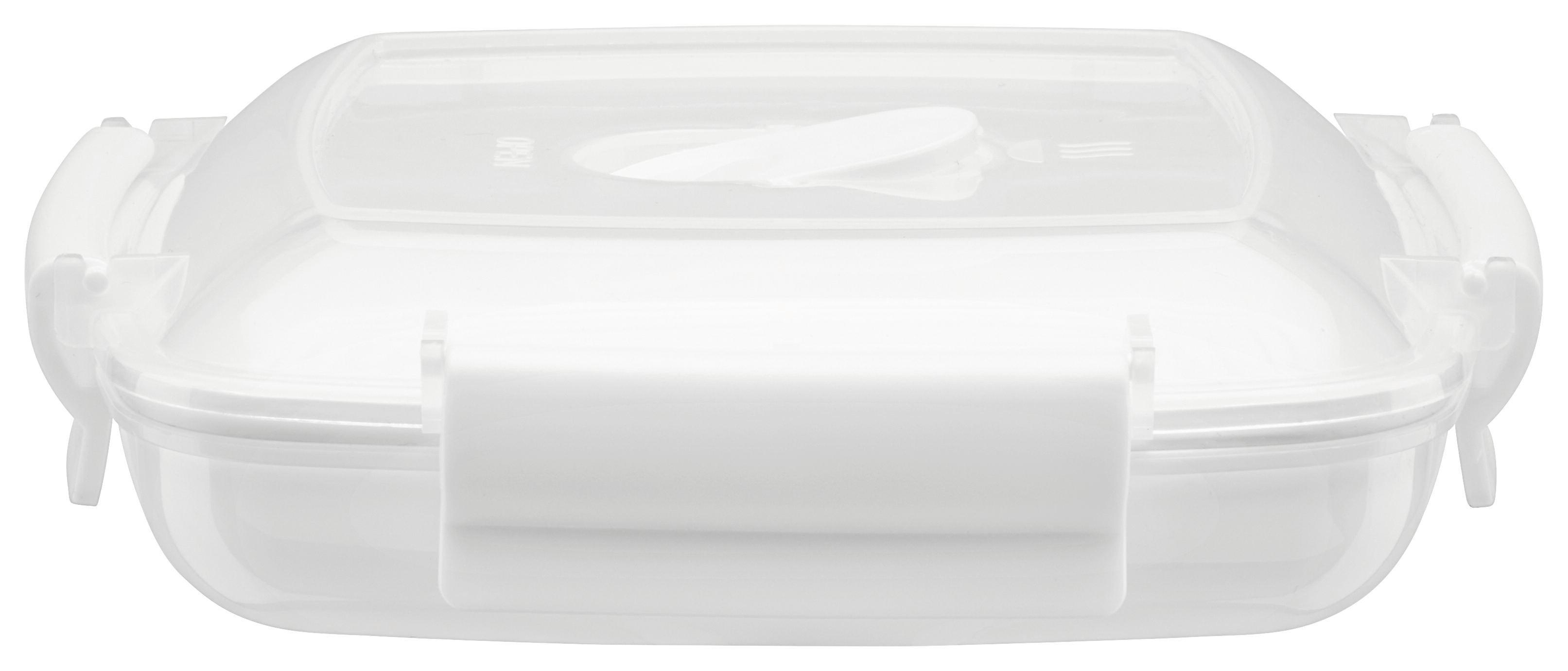 Dóza Do Mikrovlnné Trouby Klik Uzáver Mikka - bílá/průhledná, umělá hmota (0,44l) - MODERN LIVING