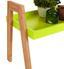 Beistelltisch Scandi Grün - Naturfarben/Grün, MODERN, Holz/Holzwerkstoff (62,5/45/32cm) - Ombra