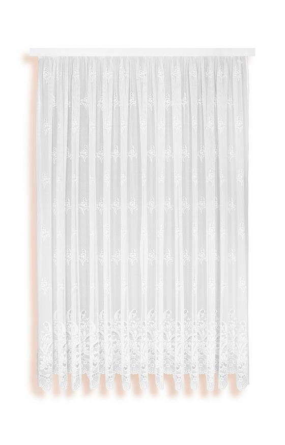 Virágos Vitrázs Függöny Andrea - Fehér, konvencionális, Textil (450/175cm) - Ombra