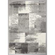 Hochflorteppich Quadrat, 120/170 - Weiß/Grau, MODERN, Textil (120/170cm)