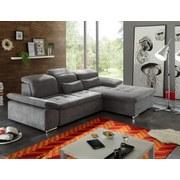 Wohnlandschaft Wayne Lc ca. 276x188 cm - Silberfarben/Grau, KONVENTIONELL, Holzwerkstoff/Textil (276/188cm) - Carryhome
