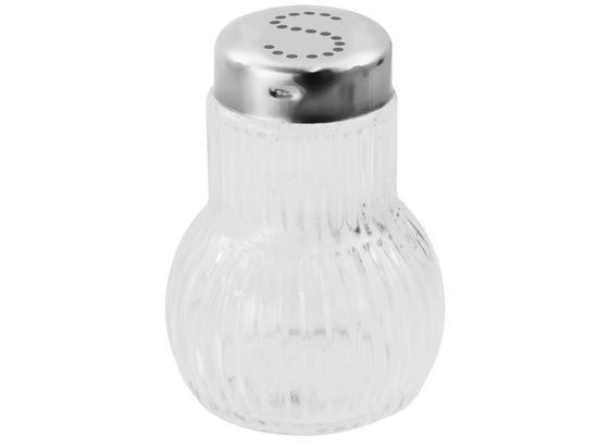 Salzstreuer Fackelmann - Silberfarben, KONVENTIONELL, Glas/Metall (7cm) - Fackelmann