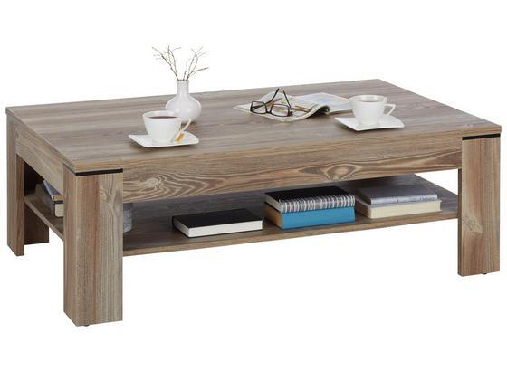 Konferenční Stolek Carlin - barvy borovice, Moderní, kov/kompozitní dřevo (120/43/75cm) - Modern Living