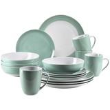 Kombiservice Kitchen Time II 16-Tlg. - Hellgrün, Basics, Keramik (31,5/31,5/33,5cm)
