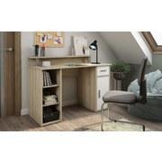 Schreibtisch Don B: 120 cm Eichefarben - Weiß/Sonoma Eiche, Basics, Holzwerkstoff (120/88/55cm) - MID.YOU