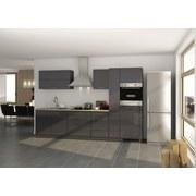 Küchenblock Mailand B: 320 cm Anthrazit - Eichefarben/Anthrazit, Basics, Holzwerkstoff (320/200/60cm) - MID.YOU