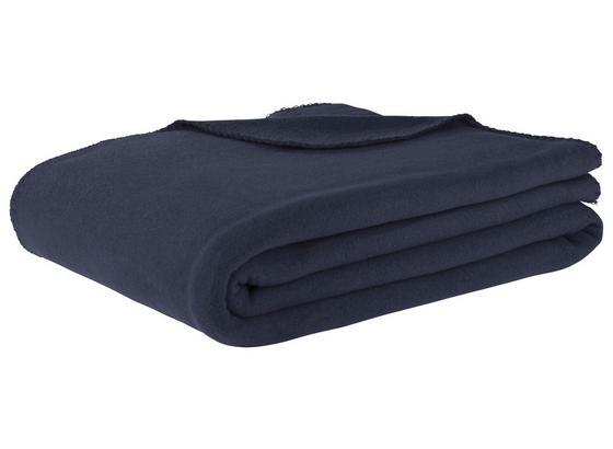 Flaušová Deka T - modrá, textil (130/180cm) - Mömax modern living