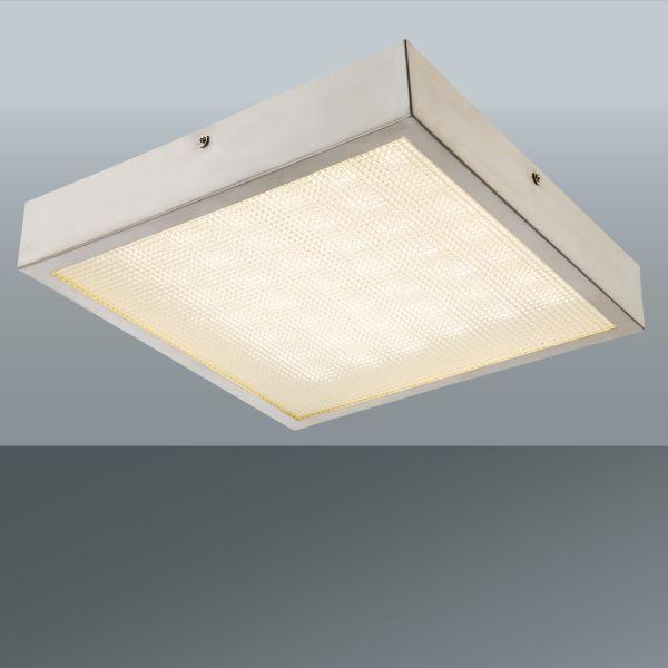 Led Stropná Lampa Dean - farby niklu, Konvenčný, umelá hmota/kov (30,5/30,5/5cm) - MÖMAX modern living