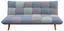 Schlafsofa Patchwork - Grau/Hellblau, MODERN, Holz/Textil (182/80/91cm) - Ombra