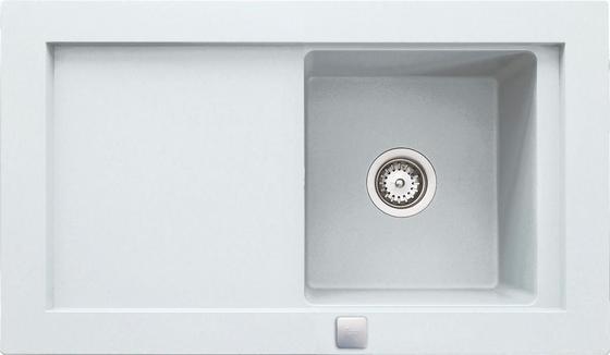 Dřez Aura  45b-tg - bílá, Moderní, kámen/sklo (92/52,5cm) - Teka