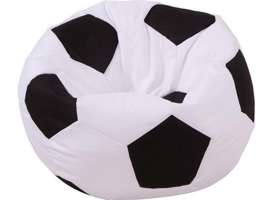 Sedací Vak Play - čierna/biela, Moderný, textil (70/50/70cm)