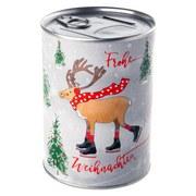 Spardose Frohe Weihnachten - Grau, MODERN, Papier/Metall (8,5/12cm)