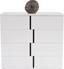 Kommode Split 2t - Schwarz/Weiß, MODERN, Holzwerkstoff (100/90/42cm)