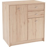 Komoda 4-you Yuk04 - barvy dubu, Moderní, dřevěný materiál (74/85,4/34,6cm)