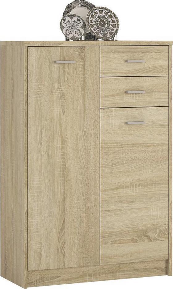 Komoda 4-you Yuk08 - dub sonoma, Moderný, drevený materiál (74/111.4/35.2cm)
