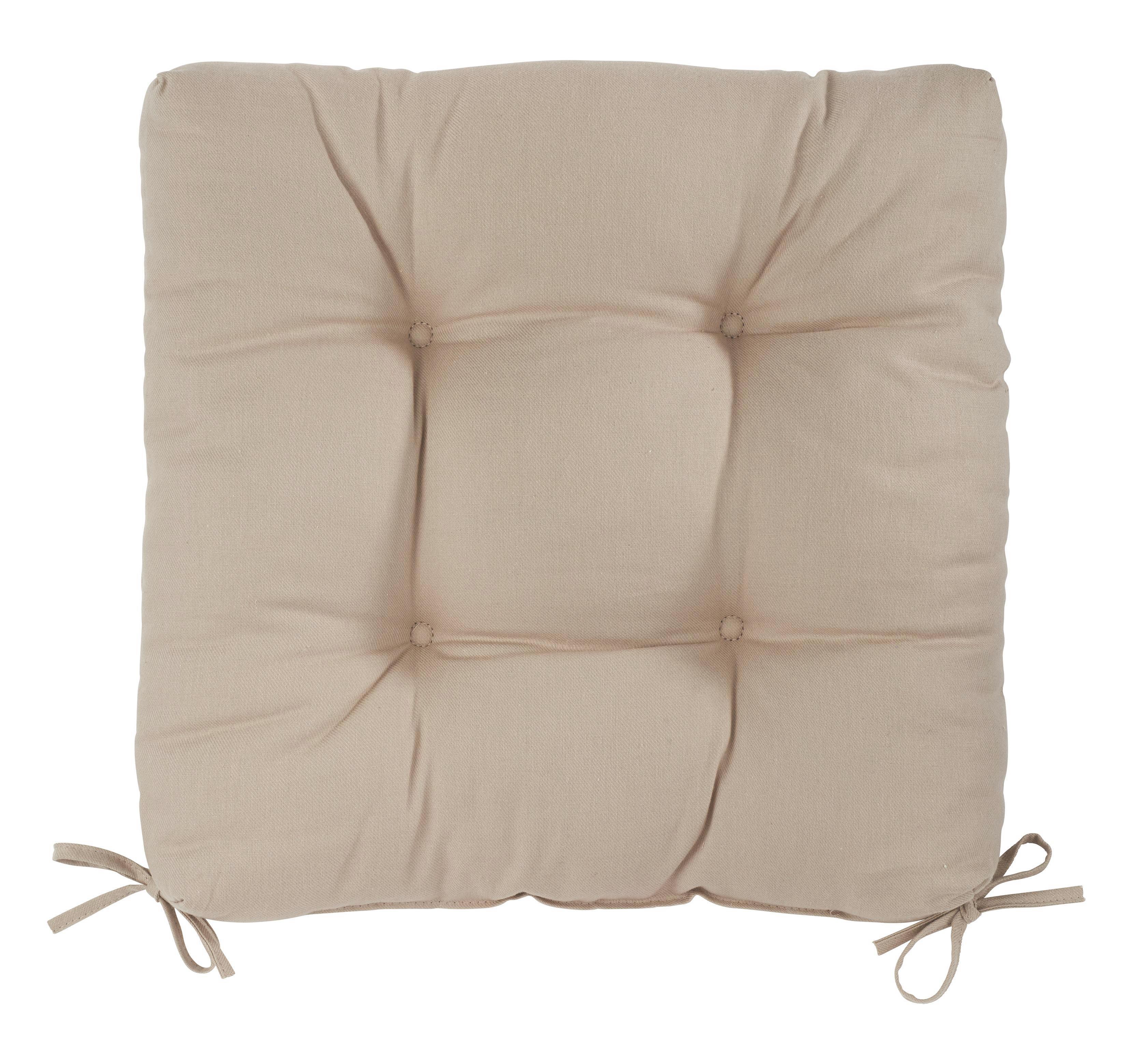 Sedák Elli-hit- - šedá, textil (40/40/7cm) - MÖMAX modern living