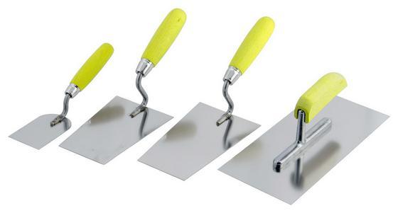 Glättekellen-satz 4-teilig - Gelb/Silberfarben, MODERN, Metall - Suki