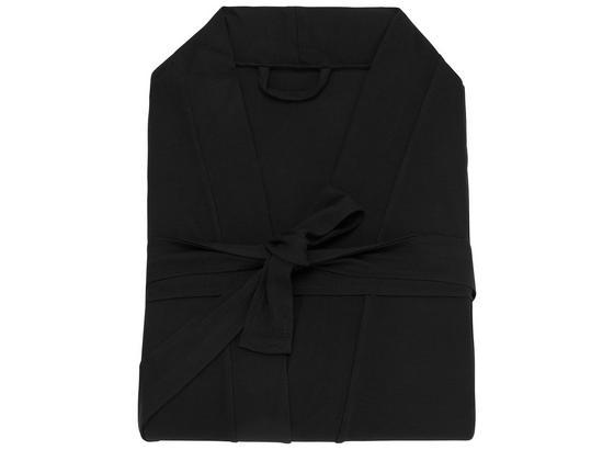 Župan Victoria Schwarz, Xl - černá, textilie (XL,XXLnull) - Premium Living