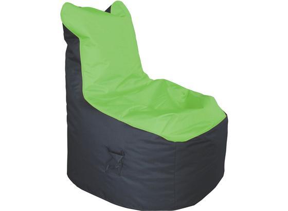 Sedací Pytel Cortona - zelená/antracitová, textil (65/100/88cm)