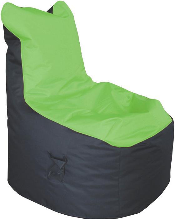 Sedací Vak Cortona - zelená/antracitová, textil (65/100/88cm)