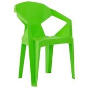Armlehnstuhl Kunststoff Grün Pflegeleicht - Grün, Basics, Kunststoff (56/80/53,5cm)
