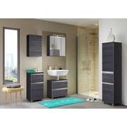 Spiegelschrank mit Türdämpfer + Led Arezzo B: 60cm - Eichefarben/Graphitfarben, Basics, Glas/Holzwerkstoff (60/64/20cm) - MID.YOU