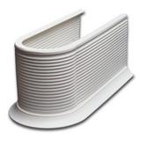 Syphonmanschette Kunststoff - Weiß, KONVENTIONELL, Kunststoff (13,2/11,5/26,5cm)
