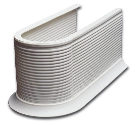 Víko Sifonu Syphonmanschette - bílá, Konvenční, umělá hmota (13,2/11,5/26,5cm)