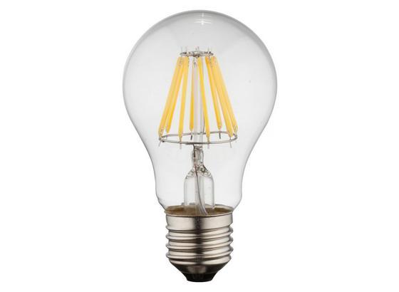 Led Žárovka 10582 - barvy stříbra/čiré, kov/sklo (6/10,6cm)