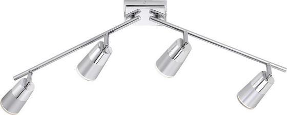 Spotlámpa Dalli - krómszínű/ezüst színű, konvencionális, műanyag/fém (81/21/17,5cm)