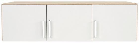 Aufsatzschrank zu Kleiderschrank Wien, 136cm - Eichefarben/Weiß, KONVENTIONELL, Holzwerkstoff (136/39/54cm)