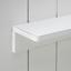Nástenný Vešiak Lola - biela, Moderný, kov/drevo (50/80/13cm) - Modern Living