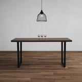 Stůl Dave  160x90cm - černá/barvy vlašských ořechů, Moderní, kov/dřevo (160/76/90cm) - Modern Living