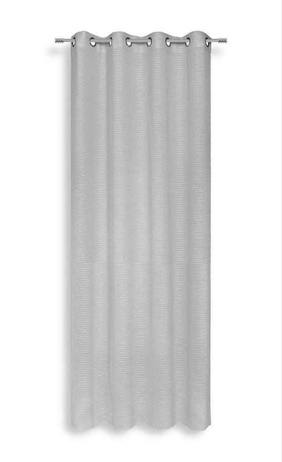 Ösenvorhang Klaudia - Silberfarben, MODERN, Textil (140/245cm) - Luca Bessoni